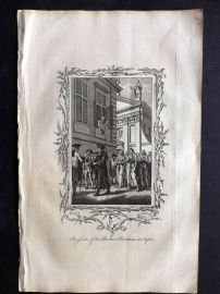 Fenning & Collyer 1765 Antique Print. Procession of the Penitent Prostitutes at Naples, Italy